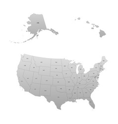 Detailed map of the united states vector