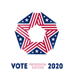 election poster for voting day in united states vector image
