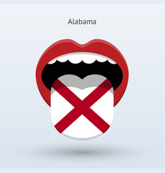 electoral vote alabama abstract mouth vector image