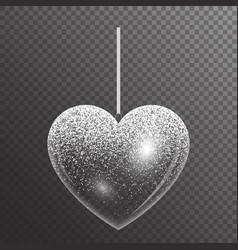 Festive heart with sparkles vector