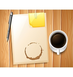 File and coffee vector
