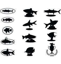 Fish trophies vector image