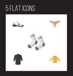 Flat icon garment set of lingerie banyan foot vector