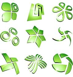 Green vibrant logos vector