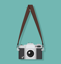 hanging old camera with screw head vector image