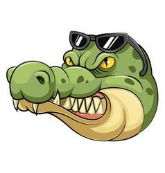 Head an crocodile cartoon vector