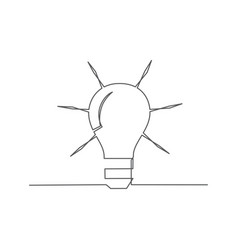 idea one line drawing vector image