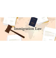 Immigration law concept regulation letter vector