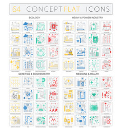 Infographics concept icons ecology heavy power vector
