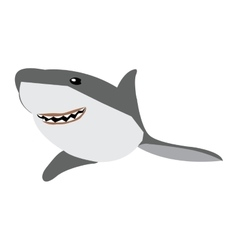 Isolated shark sketch vector image