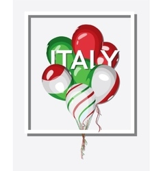 Italy bunch balloons with italian flag colors vector