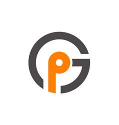 Letter gp modern vector