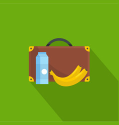 Lunchtime icon flat style vector