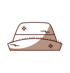 Male farmer hat icon vector