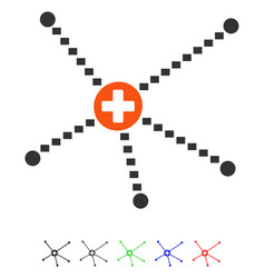 Medical relations flat icon vector