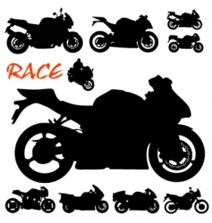 race motorcycles vector image