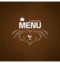 Restaurant Menu on brown background vector