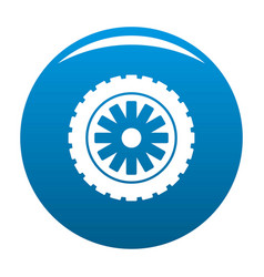 rubber protector icon blue vector image