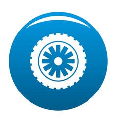 Rubber protector icon blue vector