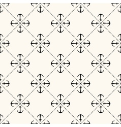 seamless retro pattern with anchors vector image