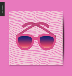 simple things - sunglasses vector image