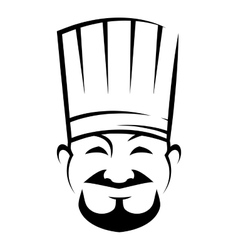 Smiling chinese chef with a goatee beard vector