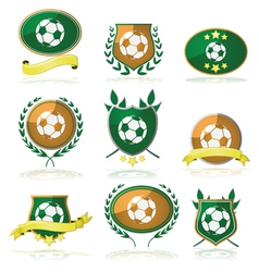 Soccer badges vector