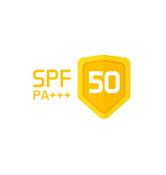 spf label icon isolated sun protection vector image