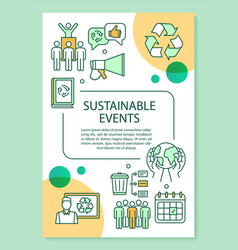 Sustainable event poster template layout banner vector