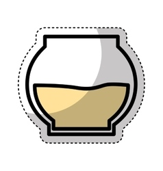 sweet honey pot isolated icon vector image