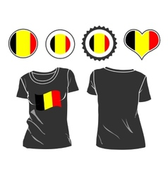 t-shirt with the flag of Belgium vector image