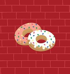 Tasty delicious donuts vector