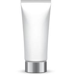Tube Of Cream Or Gel Grayscale Silver White Clean vector image