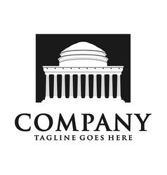 university building logo vector image