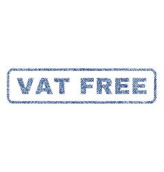 Vat free textile stamp vector