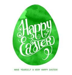 Watercolor print green egg vector