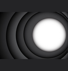 white circle blank space overlap dark gray vector image