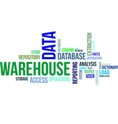 Word cloud data warehouse vector