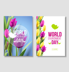 world environment day card banner vector image
