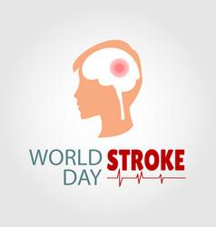 world stroke day vector image