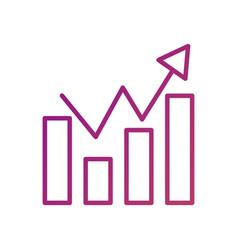 business finance chart bar graph arrow growth vector image