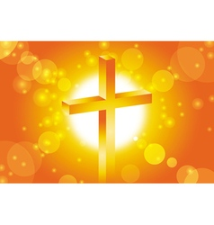 easter jesus cross background 1 vector image