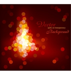 Modern Christmas glittering tree vector image vector image