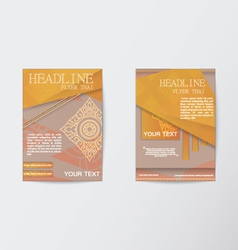 Thailand pattern Flyer design Layout in A4 size vector image vector image