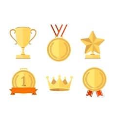 Award Set Flat Style vector image