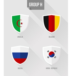 Brazil Soccer Championship 2014 Group H flag signs vector image vector image