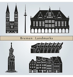 Bremen landmarks and monuments vector image