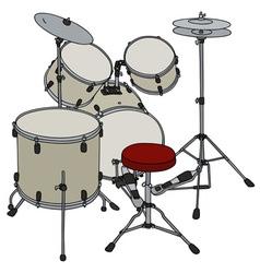 Cream percussion set vector