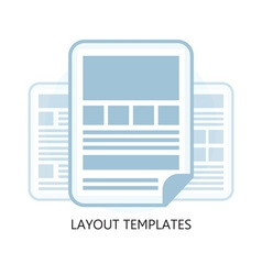 Isolated Flat Design Layout Templates Icon vector image