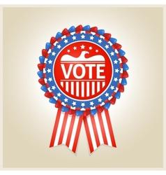 American patriotic election label vector image